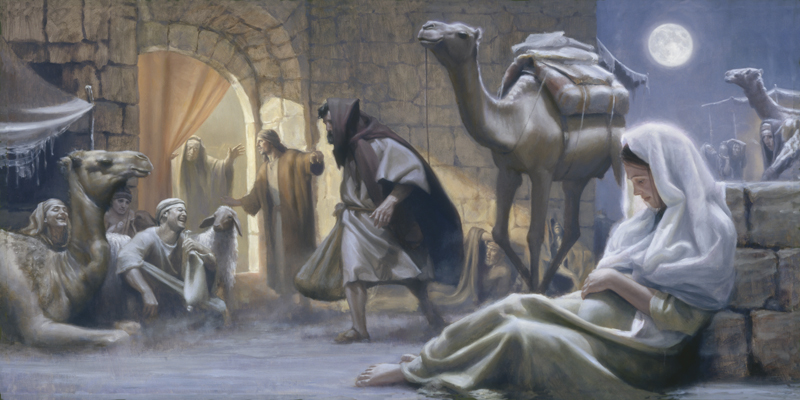 No Room At The Inn Painting