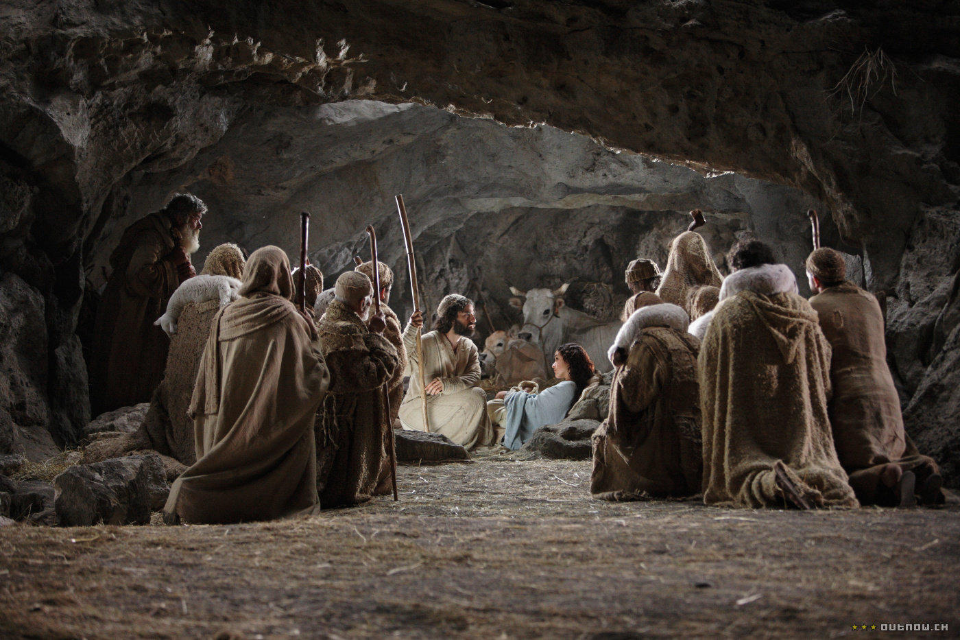 A scene from the movie The Nativity Story
